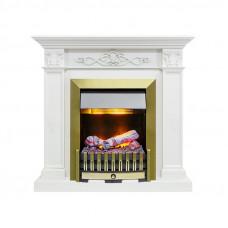 Каминокомплект Verona - Белый дуб с очагом Danville Antique Brass FB2