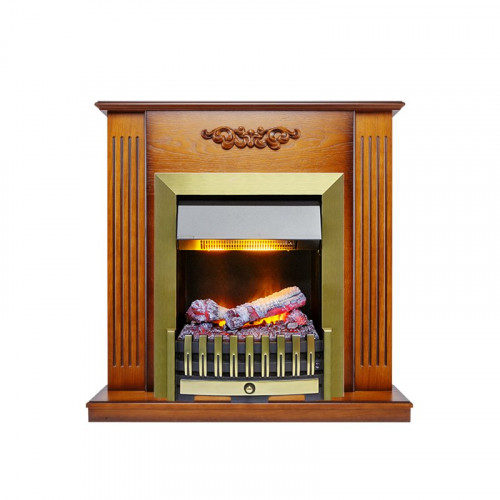 Каминокомплект Lumsden - Дуб антик с очагом Danville Antique Brass FB2