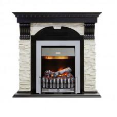 Каминокомплект Dublin - Вегне / Сланец белый с очагом Danville Chrome FB2