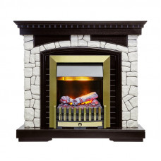 Каминокомплект Glasgow - Венге / Белый с очагом Danville Antique Brass FB2