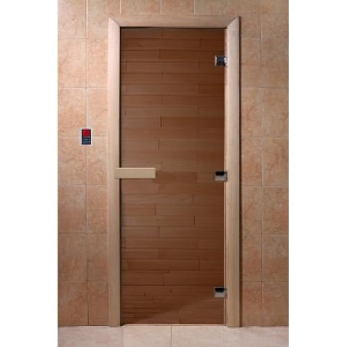 Дверь для сауны DoorWood (ДорВуд) бронза 2100х800