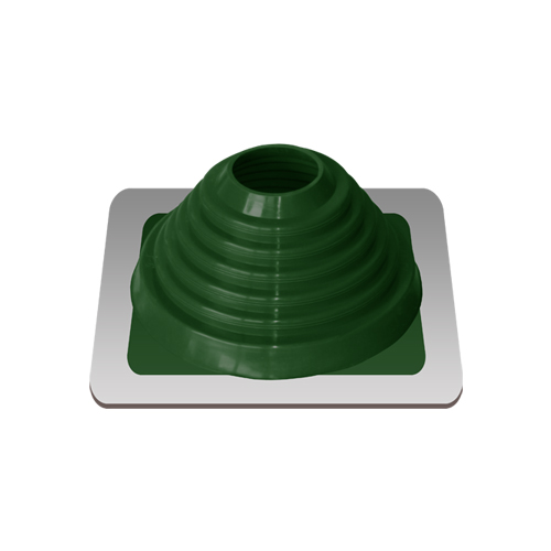 Уплотнитель кровельный №4 силикон 76-152 mm зелёный