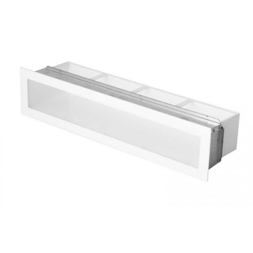 Прямая вентиляционная решетка 600 х 80 (мм) белая