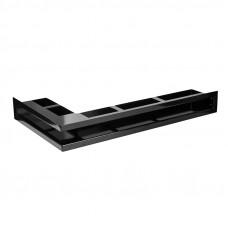 Угловая вентиляционная решетка 900 х 500 (мм) - левый угол, черная