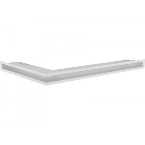 Угловая вентиляционная решетка 900 х 500 (мм) - правый угол, белая
