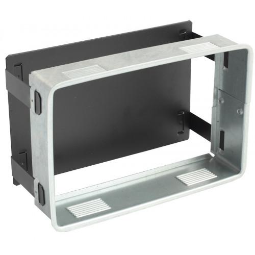 Декоративный экран решетки, 450 x220 мм, цвет белый VENTLAB