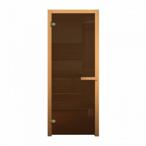 Дверь для сауны Везувий Бронза 1900х700 (коробка хвоя)