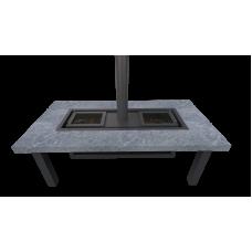 Гриль-стол «Джентльмены» натуральный камень