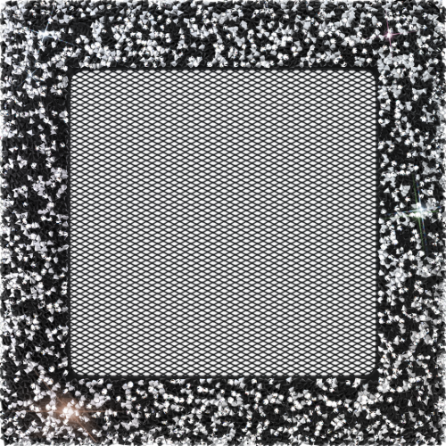17x17 Venus Swarovsky черно-серебристая