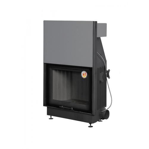 Топка ВЕГА 800 PB подовое горение принтинг черный шамот